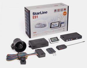 Защита с помощью сигнализации StarLine E91