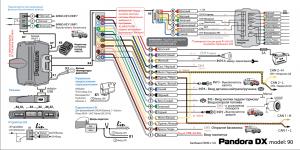 схема установка Pandora DX 90